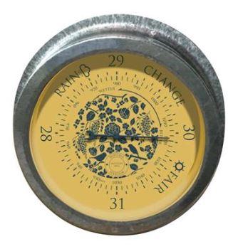 Barometer - MOULTON MILL - výber z 3 farieb: mustard, raspberry, moss green