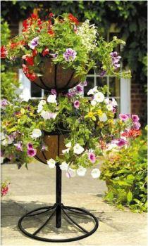 Stojan na rastliny - Georgian - stojan pre 2-poschodovú kvetinovú fontánu vrátane nádob