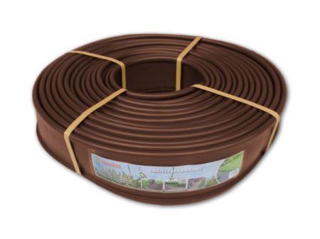 Okraj trávnika - plastový, výška 12,5 cm, dĺžka 18 m, hnedý- BRADAS