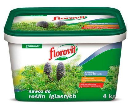 Hnojivo granulov. - FLOROVIT - ihličnany - 100 dní - 4,0 kg vedro