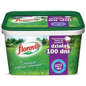 Hnojivo granulov. - FLOROVIT - trávnik - 100 dní - 4,0 kg vedro