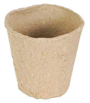 Nádoba na pestovanie - biodegradovateľné - priemer 6 cm, výška 5,5 cm - 12 ks
