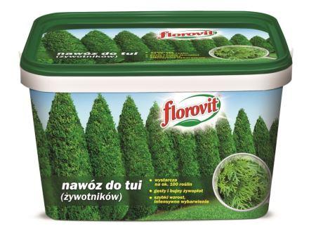 Hnojivo granulov. - FLOROVIT - tuje - 4,0 kg vedro