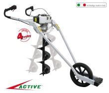 Pôdny vrták - benzínový - profi - motorová jednotka - ACTIVE T152-V-GARDEN