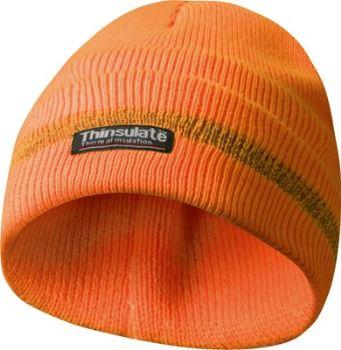 Čiapka - GEBOL - s reflexným pásikom - farba oranžová