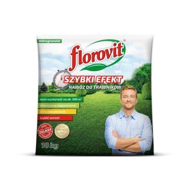Hnojivo granulov. - FLOROVIT - trávnik - Rapid Effect - 10,0 kg vrece