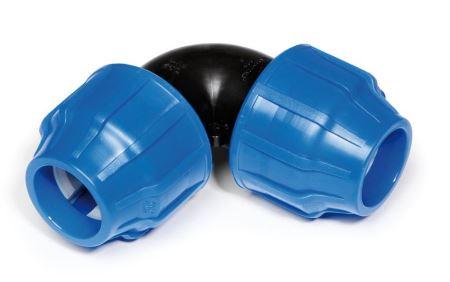Koleno 90 - PA Blu Line Plus - 40 x 40 mm