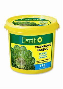 Hnojivo granulov. - HACK - Fe Plus - trávnik - proti machu s výživou - 5 kg vedro