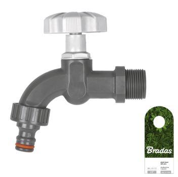 """Hydrant guľový záhradný - plast - BRADAS - 1/2"""" s adaptérom"""