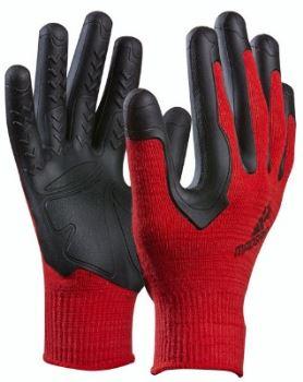"""Rukavice pracovné - GEBOL """"Pro Palm Formula 100"""" - farba červená - veľkosť S-M"""