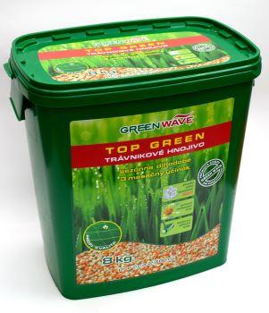 Hnojivo granulov. - GREEN WAVE - Top Green - trávnik - 8 kg (275 m2)