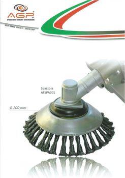Nadstavec pre krovinorezy - METAL BRUSH - Univerzálna kovová kefa na čistenie dlažby