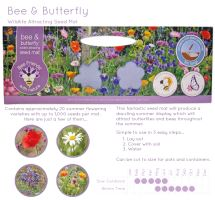 BEES 3m Wildlife seed carpet-BeeButterfly-G PLANTS
