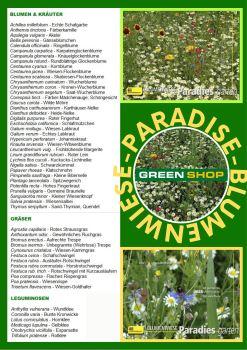 Paradise - Blumenwiese - zloženie zmesi