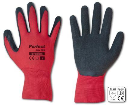 Rukavice pracovné - PERFECT GRIP RED - veľkosť 10- BRADAS