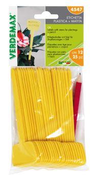 Menovky - plastové etikety - VERDEMAX - rozmer 40 x 35 x 120 mm - balenie 25 ks