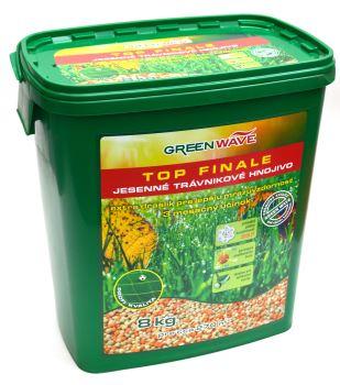 Hnojivo granulov. - GREEN WAVE - Top Finale - trávnik - jesenné - 8 kg (275 m2)