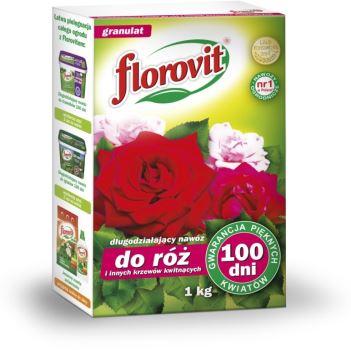 Hnojivo granulov. - FLOROVIT - ruže a kvitnúce rastliny - 100 dní - 1,0 kg box