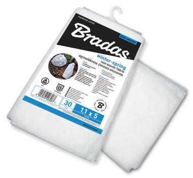 Netkaná textília - biela - BRADAS -  1,6m x 10m, 30 g/m2