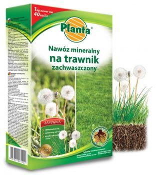 Hnojivo granulov. - PLANTA - oslabený trávnik - 1,0 kg