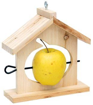Kŕmidlo - pre vtáky - závesné, tvar domček - pre napichnutie jablka
