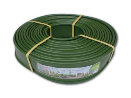 Okraj trávnika - plastový, výška 12,5 cm, dĺžka 18 m, zelený