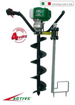 Pôdny vrták - benzínový - profi - motorová jednotka - ACTIVE T143-V-GARDEN