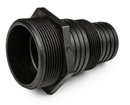 """Fitting plastový - BRADAS -pre filtre a čerpadlá - rozmery 2"""", 38 mm, 51 mm, 1 1/2"""""""