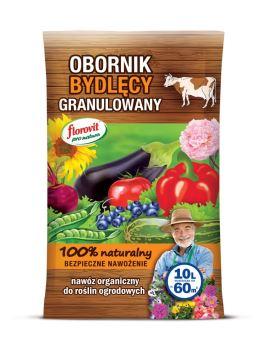 Hnojivo granulov. - organické - FLOROVIT Pro Natura - kravský hnoj - 10,0 l (6 kg)