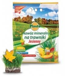 Hnojivo granulov. - PLANTA - trávnik - jesenné - 3,0 kg