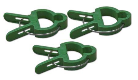 Klipsy fixačné - pre prichytenie rastlín - rozmery 4,2x3,2cm; 6,3x3,7cm - balenie 2x10 ks-