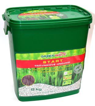 Hnojivo granulov. - GREEN WAVE - Start - trávnik - 8 kg (275 m2)   8588006352078