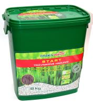 Hnojivo granulov. - GREEN WAVE - Start - trávnik - 8 kg (275 m2)