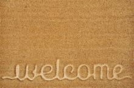 "Koberček pred dvere - VERDEMAX - vzor Welcome - Doormat  ""Welcome"" cm 45x75"