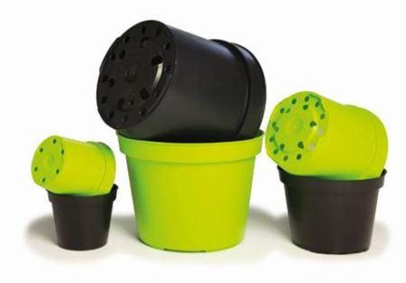 Set pestovateľských nádob - 10x čierna pr. 6cm, 10x lime pr. 6cm
