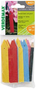 Menovky - plastové etikety farebné - VERDEMAX - balenie 20 ks