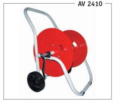 """Vozík na hadicu - kovový GREENTECH AV 2410 - pre max. 82 m 1/2"""" hadice"""