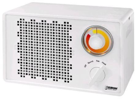 Ventilátor teplovzdušný - EUROM Heat Boost 1500, s bluetooth reproduktorom 1500W-V-GARDEN