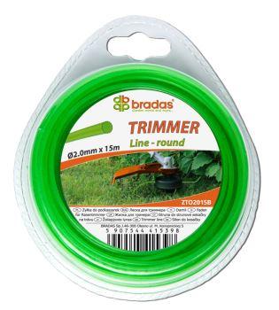 Žacie lanko - TRIMMER - 2,4 mm x 15 m - prierez okrúhly - blister- BRADAS