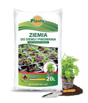 Substrát pre výsev a bylinky - PLANTA - 50 l