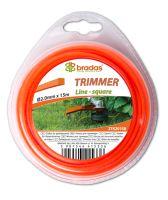 Žacie lanko - TRIMMER - 2,4 mm x 15 m - prierez štvorec - blister - BRADAS