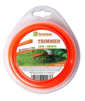 Žacie lanko - TRIMMER - 2,4 mm x 15 m - prierez štvorec - blister