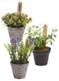 Umelá rastlina - umelé rastliny v nádobkách zmes - Mixed Pot Plants