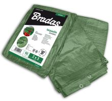 Plachta zakrývacia - GREEN - spevnená -  90g/m2 - zelená - 3 x 4 m- BRADAS