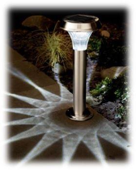 Svietidlo - solárne - COLE&BRIGHT Solar Stainless Steel Post Light