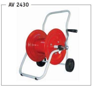 Vozík na hadicu - kovový GREENTECH AV 2430 - pre max. 55 m 1/2