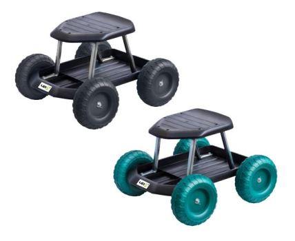 Záhradný vozík Rolling Seat, nosnosť 130 kg