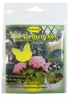 Prípravok proti hmyzu - žlté bio lepiace plochy v tvare motýľov - SCHACHT - 10 ks v balení