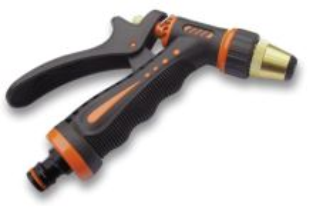 Pištoľ zavlažovacia - ZEBRA - mosadzná, kovové telo s ergonomickou rukoväťou
