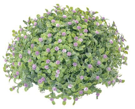 Umelá rastlina - s kvetmi - priemer 23 cm